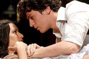 Lea Michele and Jonathan Groff in Spring Awakening