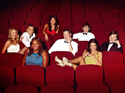 Glee kids in the auditorium
