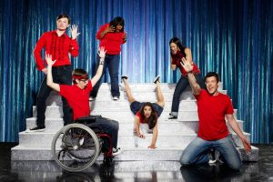The original Gleeksters, clockwise from top left: Kurt Hummel, Mercedes Jones, Tina Cohen-Chang, Finn Hudson, Rachel Berry, Artie Abrams