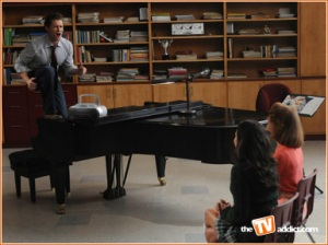 "Mr. Schue belts it out in ""Ballads"""